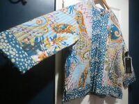 Phool Women's 1 X Reversible Quilt Like Floral/polka Dot Jacket Amazing