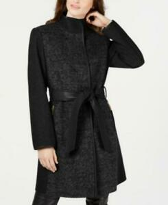 Vince-Camuto-Women-039-s-PS-Petite-Wool-Trench-Coat-Black-275-NwT