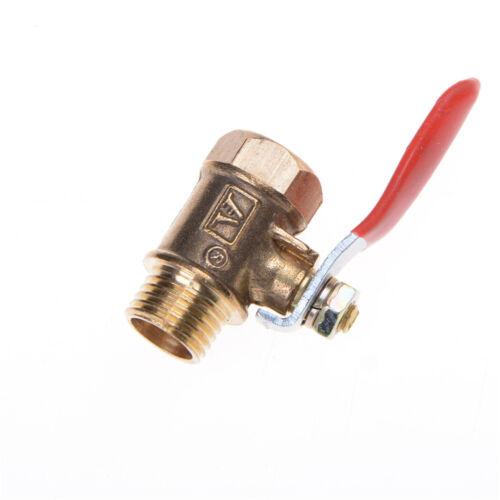 1/4'' M/F Full Port Inline Brass Water Air Gas Fuel Line Shut-off Ball Valve HU