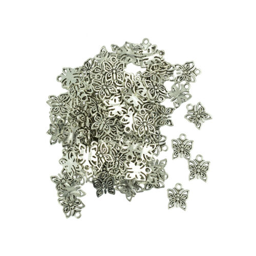 150pcs Wholesale Butterfly Charm Pendants Charms DIY Jewelry Findings Crafts