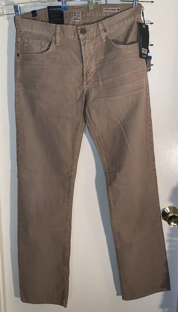 Ciudadanos de la humanidad Sid Ajustado recto Pantalones de  pana Sepia Beige Tamaño 33  toma