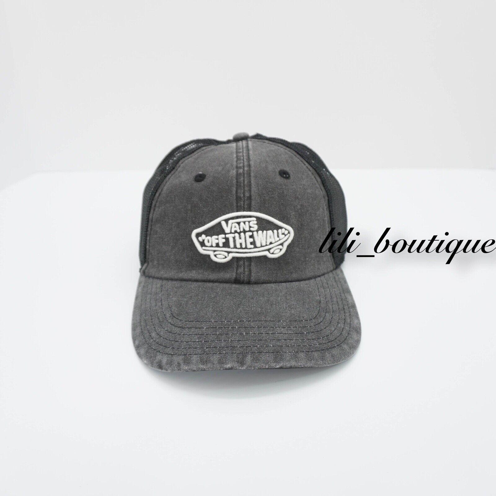 e043589b8 VANS Acer Trucker Strapback Hat Vn0a3ilhblk Black Grey One Size