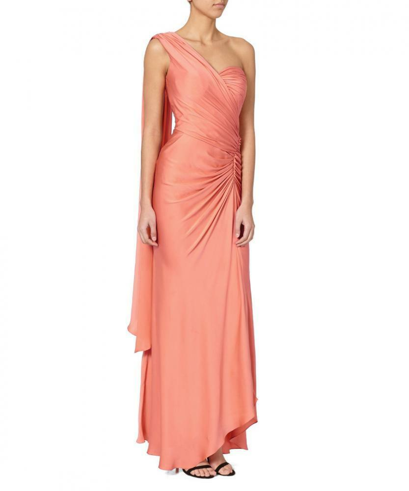 Amanda Wakely Dress Coral Sz 12uk
