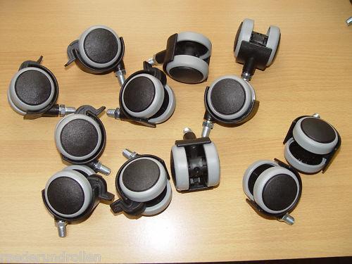 12 x papel de muebles 50mm suelo duro papel de goma rosca m8x15 6 unidades con firmemente Teller