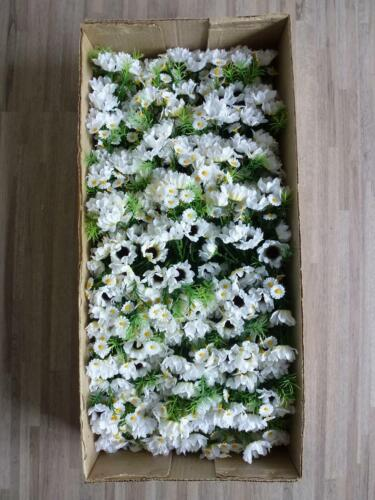 72 x Margeritenstrauß Margerite Strauß Seidenblume 20 cm  weiß TC61839 F13