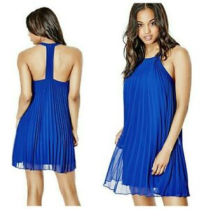 89866645d540 Image is loading GUESS-FIONA-SLEEVELESS-PLEATED-DRESS
