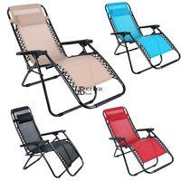Heavy Duty Zero Gravity Textilene Deluxe Extra-large Folding Sun Recliner Chair