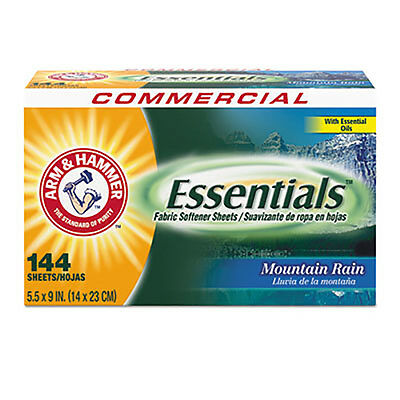 Home & Garden Household Supplies & Cleaning Disciplined Arm & Hammer Essentials Dryer Sheets Mountain Rain 144 Sheets/box 3320000102bx Fashionable Patterns