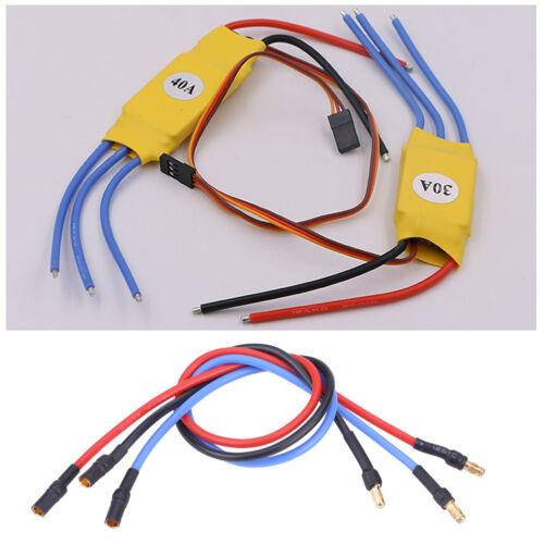 1Set Variateur De Vitesse Électronique ESC Motor 30 cm Silicone Câble Connecteur avec 3.5mm