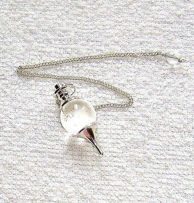 Beautiful Clear Quartz Dowser Pendulum reiki feng shui crystal healing gift