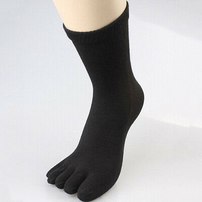 Cool Men's Women's Soft Socks Pure Cotton Sports Five Finger Socks Toe Socks New