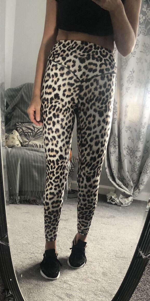 Leopard Print Yoga Sport Gym Leggings Size Small