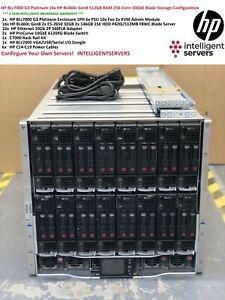 HP-blc7000-g3-16x-HP-bl460c-gen8-256-Cores-512gb-RAM-10gbe-Blade-Serverloesung