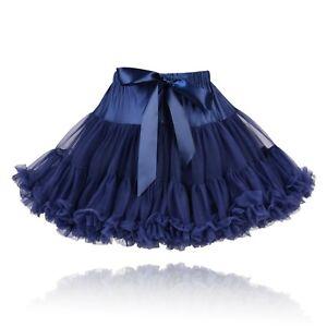 deaf5041226 Filles Bleu Marine Qualité Couture Doux Moelleux Complet Nylon Jupon ...