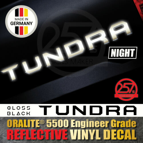 TUNDRA Tailgate Vinyl Decal Letters Sticker 2014-2019 TOYOTA Reflective Black