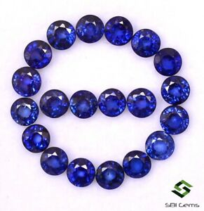 6-41-CTS-Natural-Blue-Sapphire-Round-Cut-4-mm-Lot-20-Pcs-Calibrated-Loose-Gems