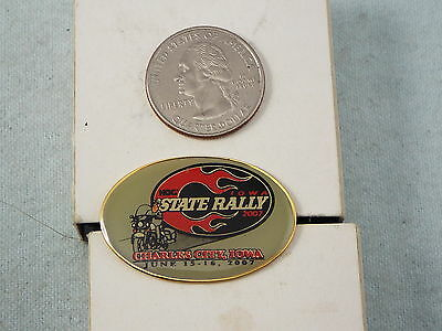 Harley Davidson Pin Charles City, Iowa State Rally 2007 Het Hele Systeem Versterken En Versterken