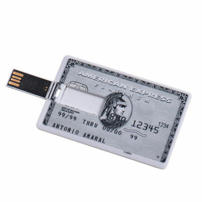 Credit Card Model Flash Drive USB 2.0 16GB 8GB 4GB Storage Memory Stick Lot