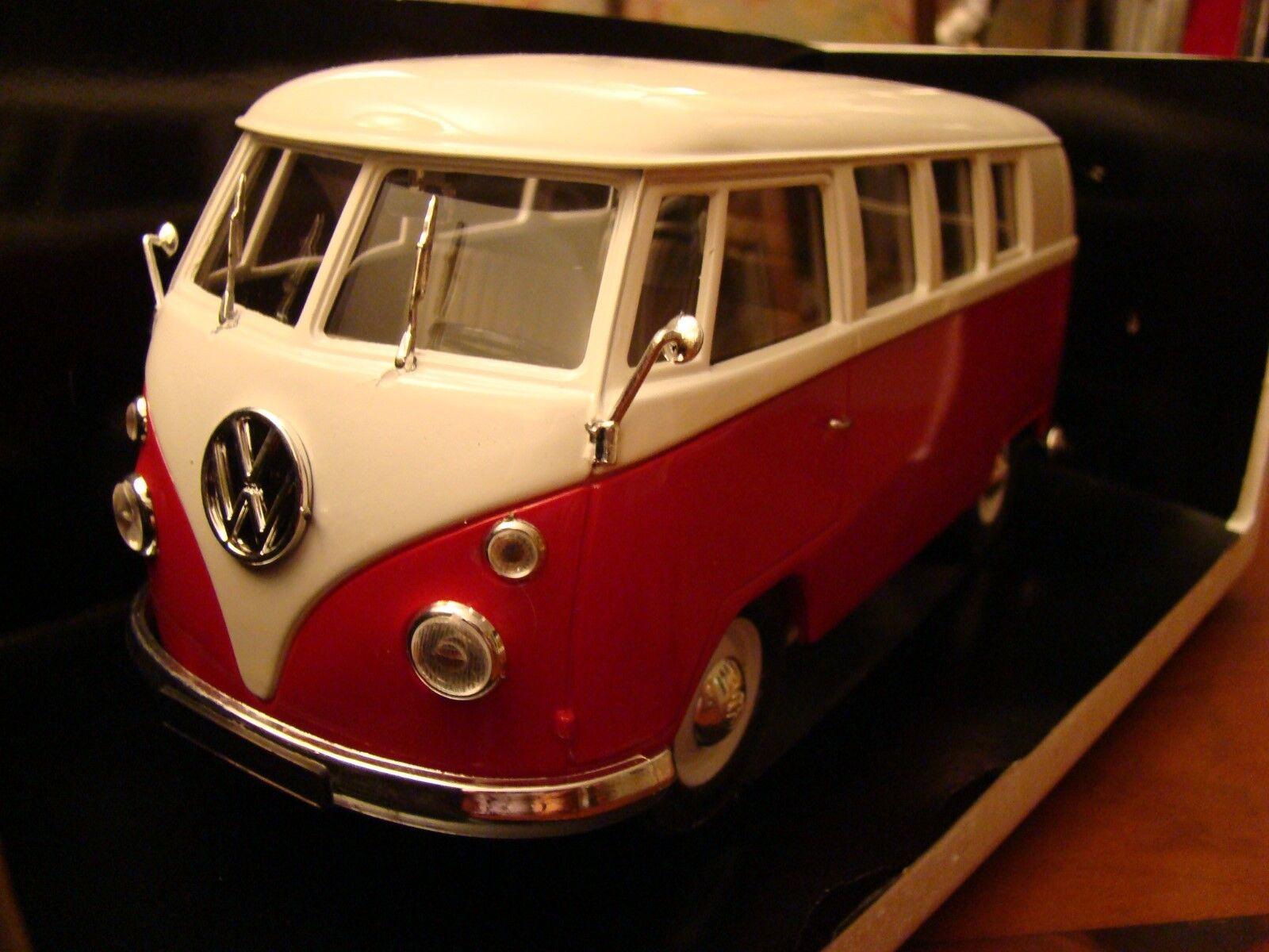 1 18 Volkswagen Camper T2 Écran Partagé 1966 Bordeaux Crème RARE