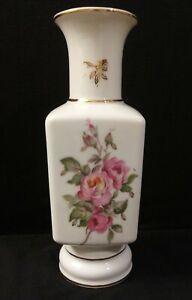 Vintage-Lipper-amp-Mann-Marked-Porcelain-Pink-Rose-Vase-Made-in-Japan