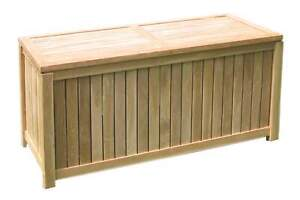 Details Zu Teakholz Auflagenbox Offene Lattung 122x55cm Garten Kissen Auflagen Box Truhe