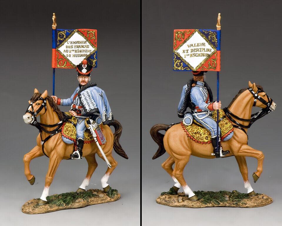 King & Country The Età di Napoleone NA356 Francese Montaggio Ussaro Guidon