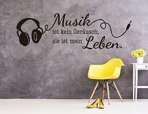 Wandtattoo Wohnzimmer Wandtatoo Wandsticker Spruch Musik Ist Mein