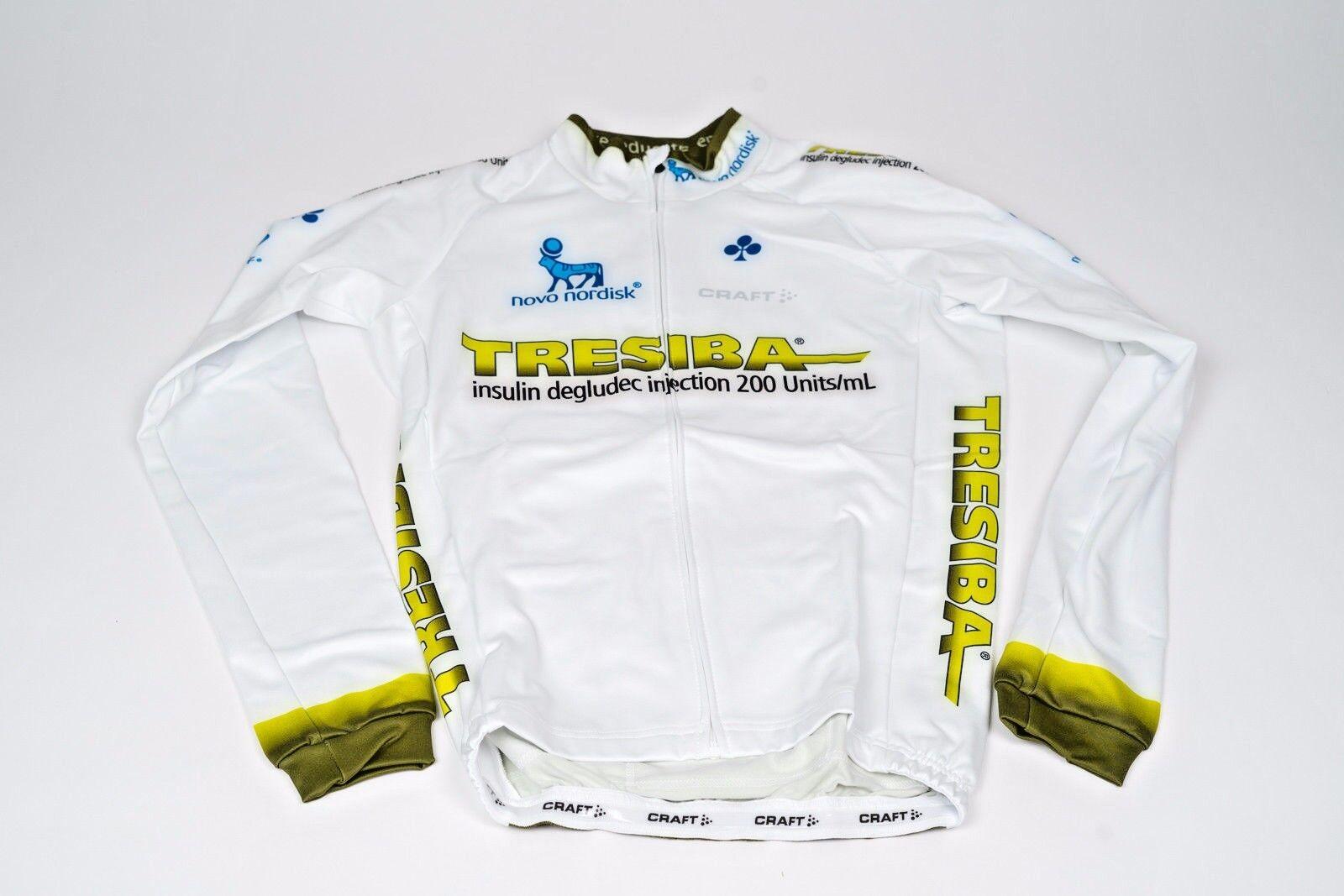 New 2017 Men's Craft Team Novo Nordisk Tresiba EBC Thermal LS Jersey, size XS