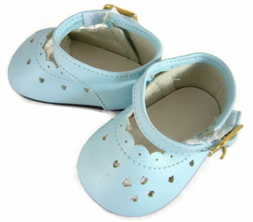 """Light Blue Scalloped Shoes Heart Cutouts made for 18/"""" American Girl Doll Clothes"""