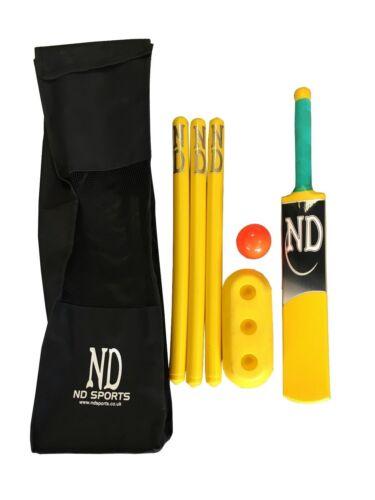 NEW CRICKET SET BAT BALL STUMPS GARDEN BEACH KIDS FUN PARK PLAY WICKETS