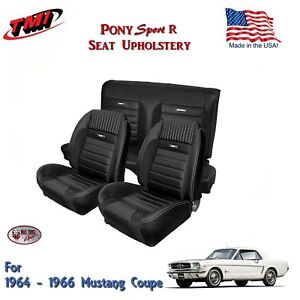 Amazing Details About 1964 66 Mustang Coupe Front Rear Seat Pony Sport R Upholstery Black Tmi Ibusinesslaw Wood Chair Design Ideas Ibusinesslaworg