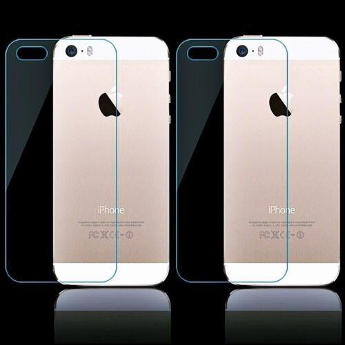 2x reversos de vidrio de protección para Apple iPhone 6 6s tanques diapositiva detrás de vidrio lámina 9h