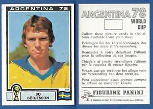 FIGURINA-CALCIATORI-PANINI-ARGENTINA-78-NUOVA-NEW-N-231-BORJESSON-SVERIGE