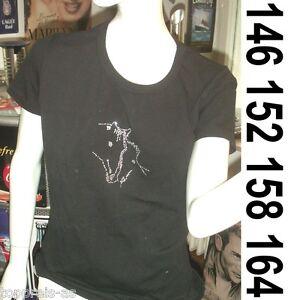Chevaux t-shirt équitation cheval poulain strass noir 95% coton 146 152 158 164-afficher le titre d`origine Z45hhUKj-07192925-107064865