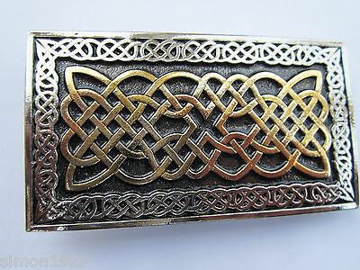 Celtic design belt buckle.
