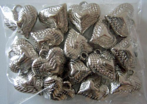 #10139 corazón 16er Set regalo de plata colgante colgante decorativo nuevo patrón Shabby