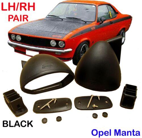 Opel Manta 70 71 72-75 Opel Manta A TE 2800 GT//E S 1900 Rally Black Mirrors Pair