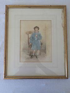 Waller-Hugh-PATON-1828-1895-Aquarelle-Gouache-Papier-Portrait-1892
