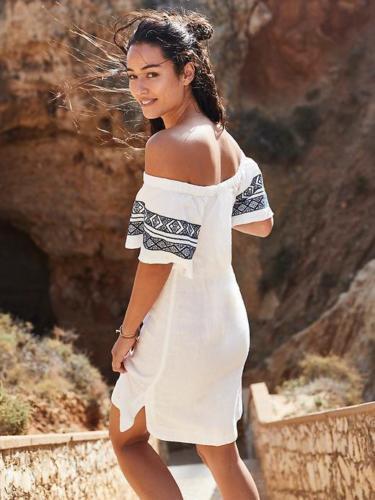 NWT Athleta Riviera Cover-Up XS   sea salt washable linen short sleeve SZ XS