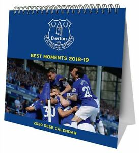 Everton-Football-Club-caballete-2020-Pagina-De-Calendario-De-Escritorio-a-mes-Carpa-CFE-Choice