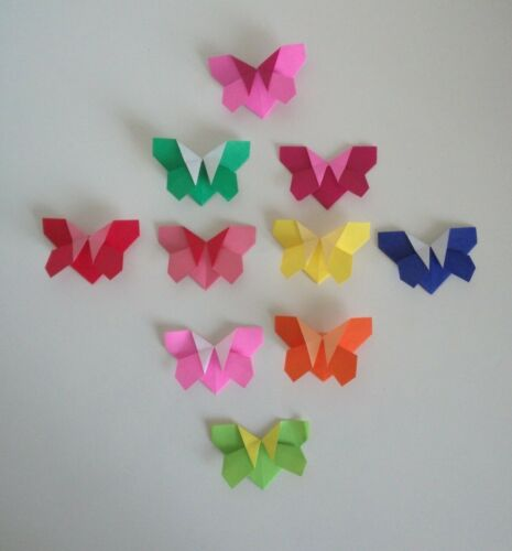 10 handmade origami colourful little butterfly corner bookmarks