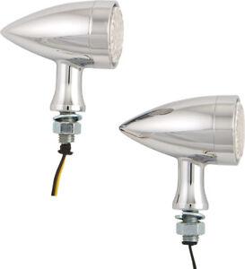 HARDDRIVE-MINI-AMBER-LED-BULLET-MARKER-LIGHT-CHROME-W-CLEAR-LENS-L22-64B4AE