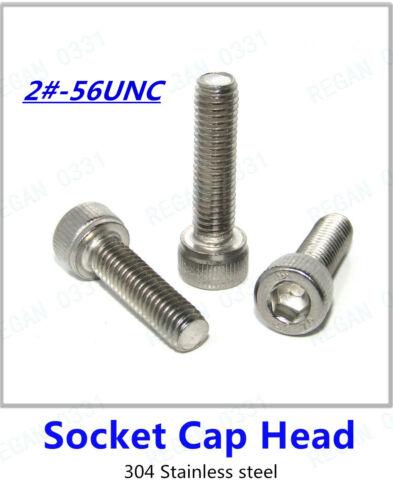 Inch 2#-56UNC Allen Socket Cap Head,Button Head,Sunk Head Screws Bolt,Nut,washer