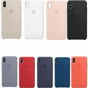 Funda-para-Apple-iPhone-X-XR-XS-Max-Original-carcasas-de-Silicona-Duro-Genuina