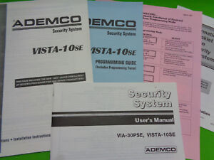 ademco honeywell security system manual guides pack vista 10se via rh ebay com Ademco Vista 10Se Master Code Ademco Vista 10Se Control Panel