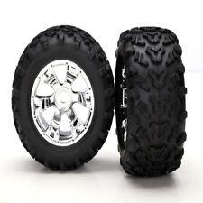 Traxxas 5674 Maxx Tires On Geode Wheels (2) Summit E-Maxx E-Revo