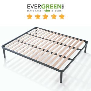 Rete per letto singolo 1 piazza 85x190 in ferro a doghe legno ortopedica apple ebay - Rete per letto singolo ...