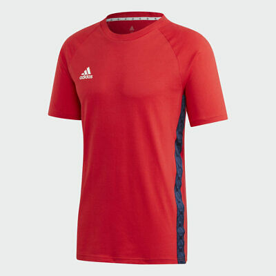 incompleto relajarse Sur oeste  ADIDAS $35 Men's TAN TAPE TEE Gym T-Shirt Football Soccer Red Sizes M L  FP7892 | eBay