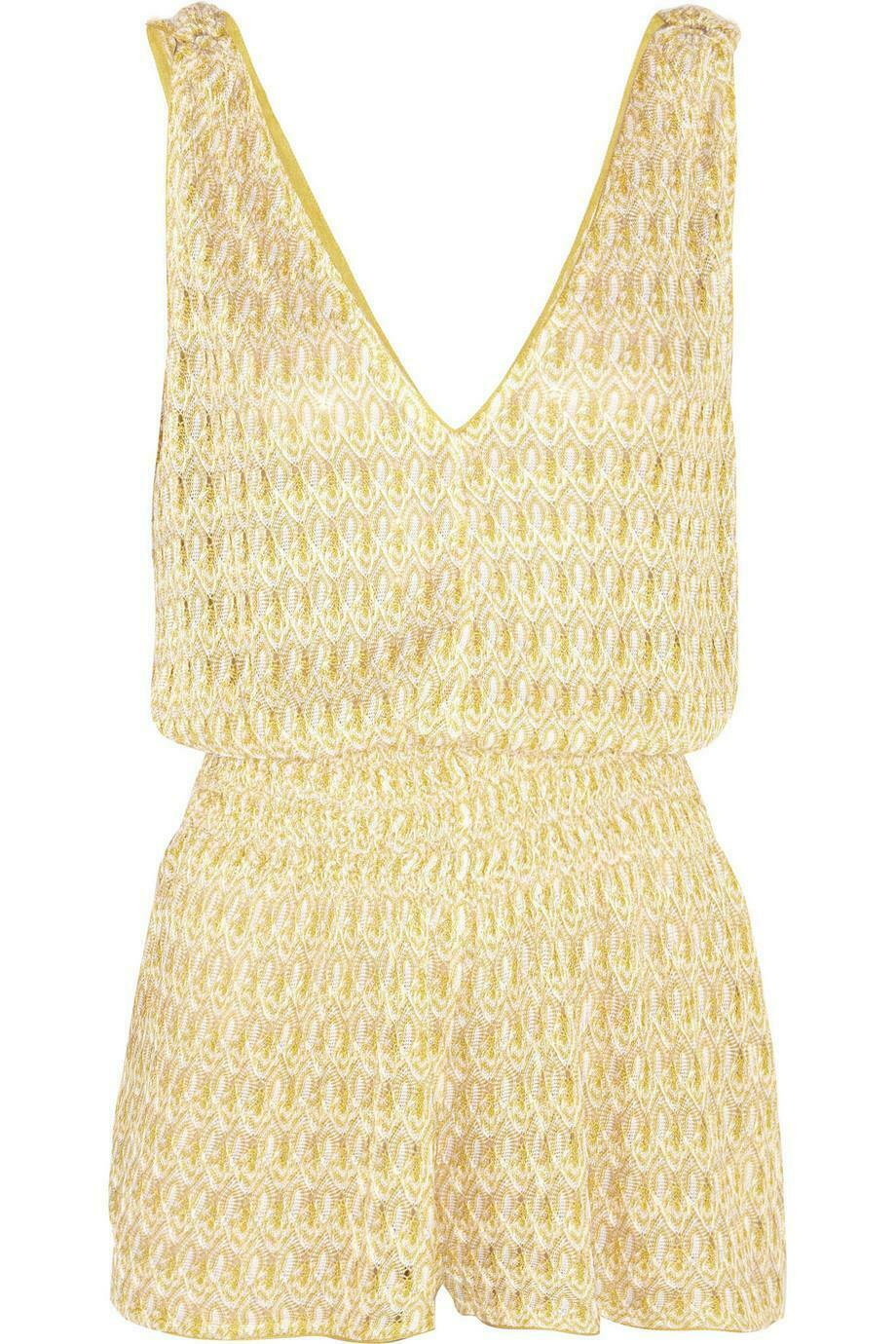 MISSONI DIAMANTINO RILIEVO CROCHET KNIT PLAYSUIT IT 38