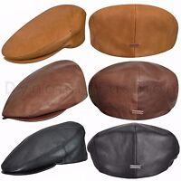 Authentic Mens Kangol 100% Italian Leather Ivy Cap Hat K5013ht Sizes S M L Xl